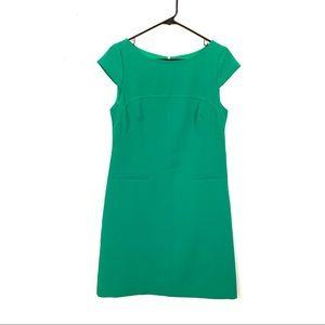 Vince Camuto Green Cap Sleeve Career Shift Dress 6